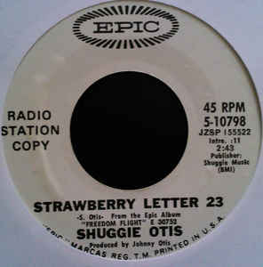 Shuggie Otis - Strawberry Letter 23 / Ice Cold Daydream cover of release