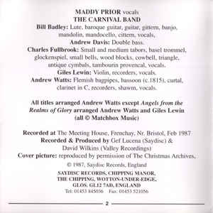 Maddy Prior & The Carnival Band - A Tapestry Of Carols